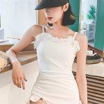 U1s1 One Piece Swimsuit Women Triangle Korean Cute Agaric Laces Open Back Conservative Swimwear 7901 Lazada