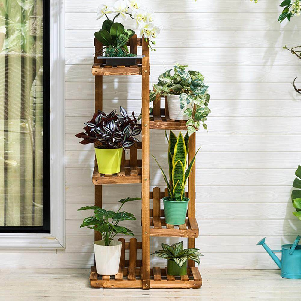 multi layer free standing plant holder potted plants shelf indoor flower rack for home