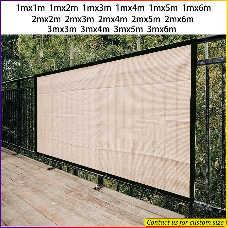 balcony privacy screen fence pools deck sun shade net mesh sail patio cover uv block garden wind protection