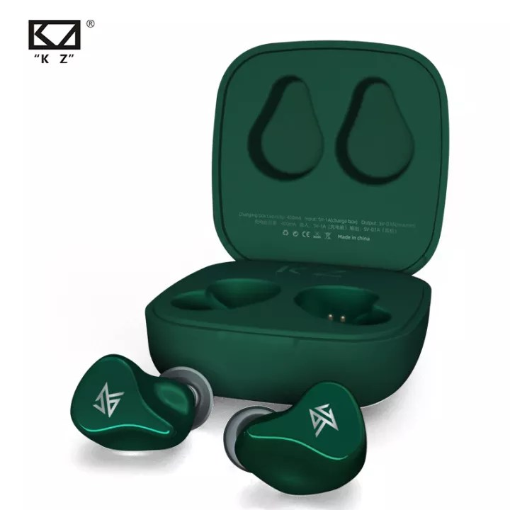 KZ Z1 TWS True Wireless Bluetooth v5.0  Dual magnetic Dynamic Touch Control Noise Cancelling Sport   Game Earbuds -Green