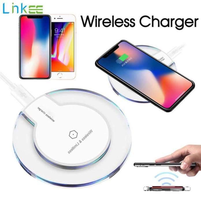 Pengisi Daya Nirkabel Kristal Bulat Pengisian Pad untuk iPhone X Xs Max XR 8 Plus Samsung Galaxy S10 S9 S8 S7 S6 Edge Note 5 8 9 qi Perangkat Berkemampuan