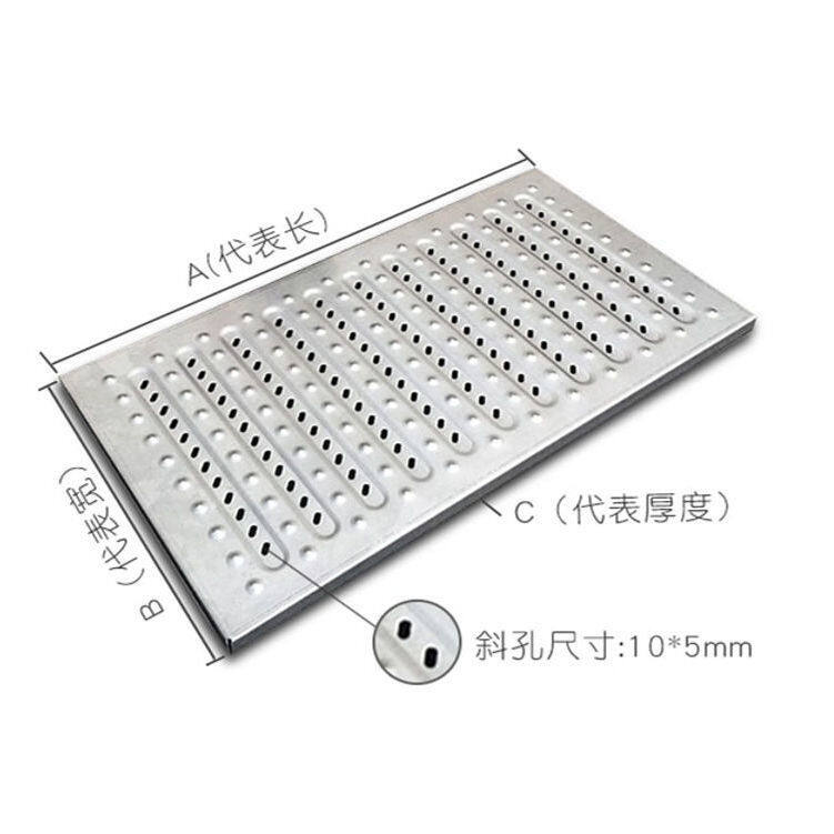 stainless steel trench cover plate hotel kitchen sink odor proof drain floor drain cover plate steel perforated strainer manhole cover