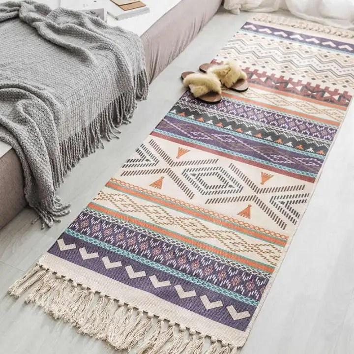 Karpet Etnik Rumah, Karpet Lantai Besar untuk Kamar Tidur, Samping Tempat  Tidur, Karpet Geometris, Ruang Tamu, Karpet Dapur   Lazada Indonesia