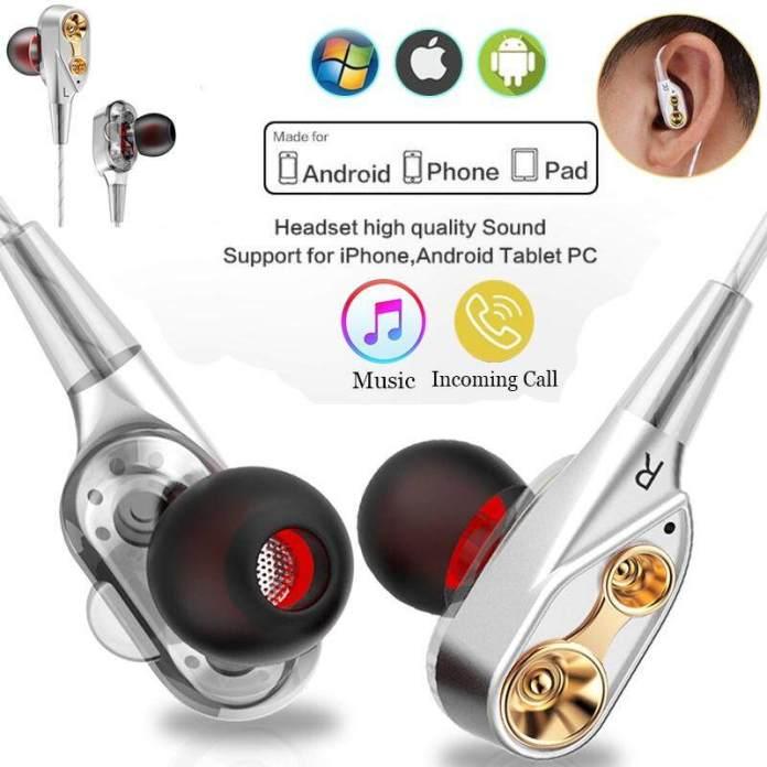 Joetxo 3.5 Mm Wired In-Ear Earbud Stereo Headphone Super Bass HI FI Menjalankan Kebisingan Membatalkan Earphone Olahraga Headset Bebas Tangan dengan MIC untuk Iphone Huawei Xiaomi OPPO Vivo