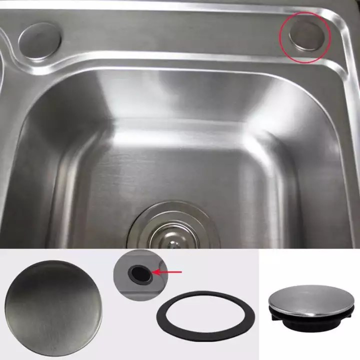 304 stainless steel sink decorative cover soap dispenser hole cover faucet hole plug washbasin plug