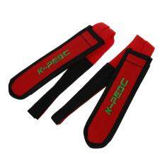 1 Pair Fixed Gear Fixie BMX Bike Bicycle Double Velcro Pedal Toe Straps Red