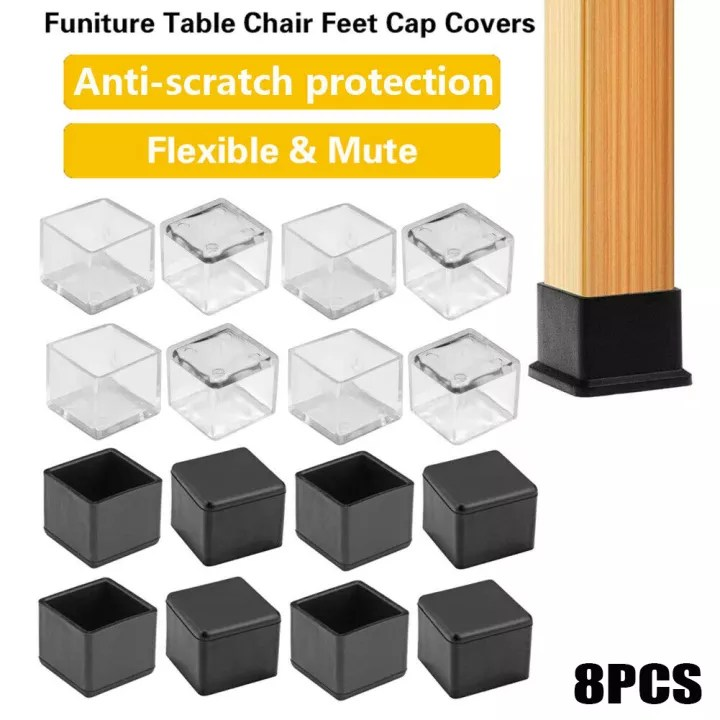 8pcs new floor protectors socks round bottom furniture feet chair leg caps non slip covers silicone pads