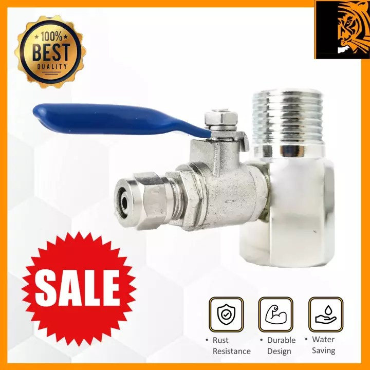 water purifier filter diverter valve set stainless steel faucet adapter for 1 4 or 3 8 inch hose