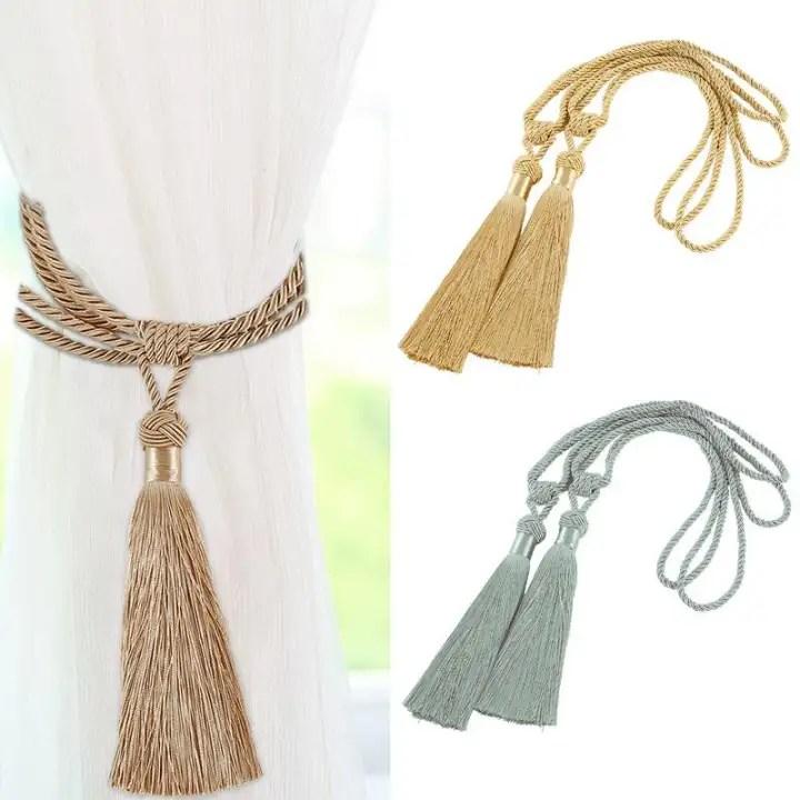 large curtain tie backs beaded ball tassel rope holdbacks home decor tieback modern curtain rope