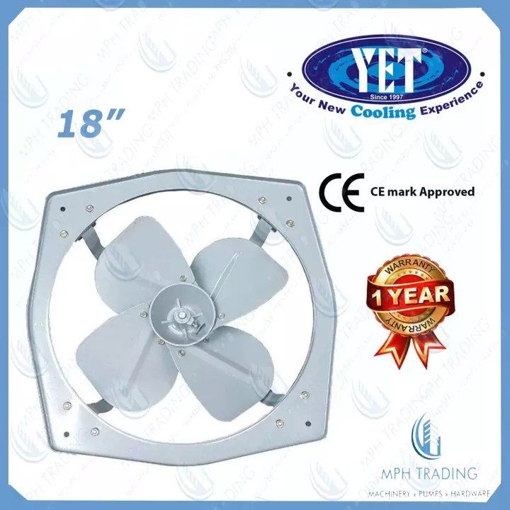 yet gh45 heavy duty 18 18 inch industrial exhaust fan with high quality die cast aluminium material and 100 copper motor 12900m3h air flow