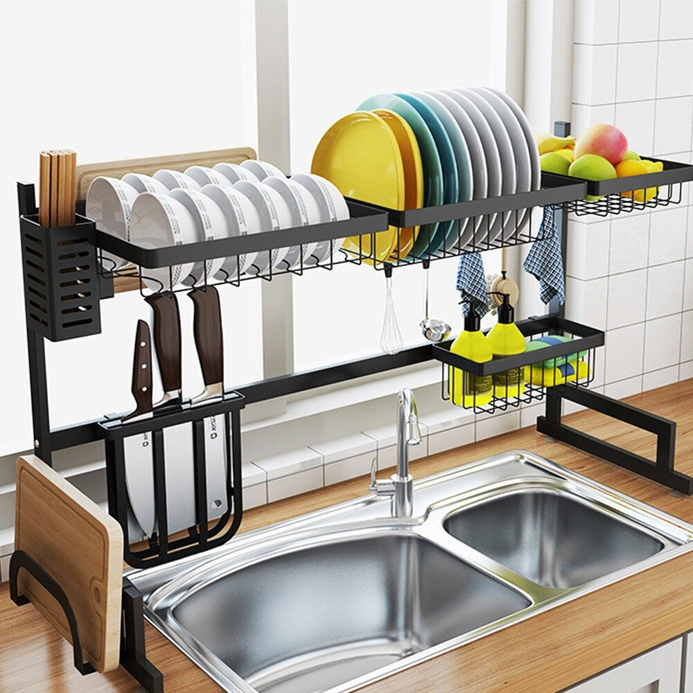 dish racks sink accessories powder coated stainless steel dish drainer kitchen sink rack dish rack kitchen basin rack 65cm 85cm 91cm