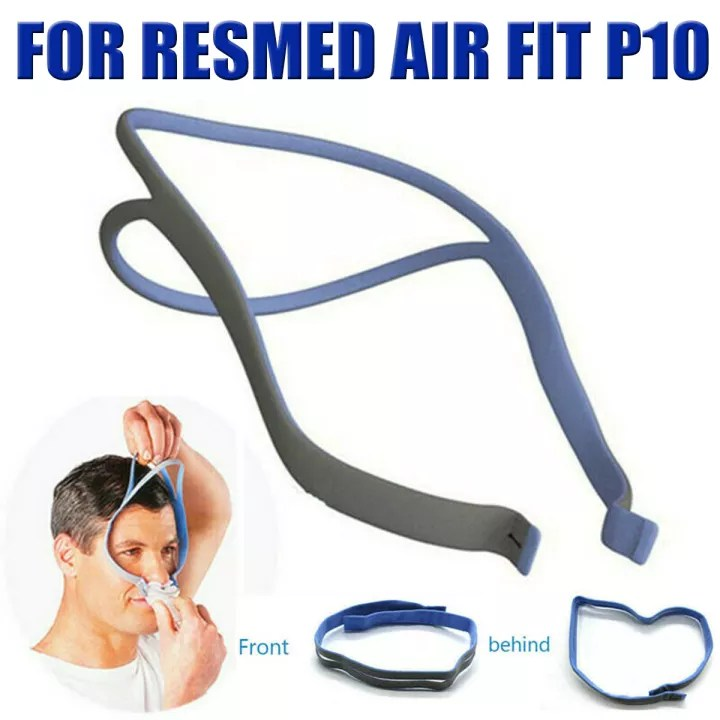 spandex headgear strap replacement fit for resmed airfit p10 nasal pillow