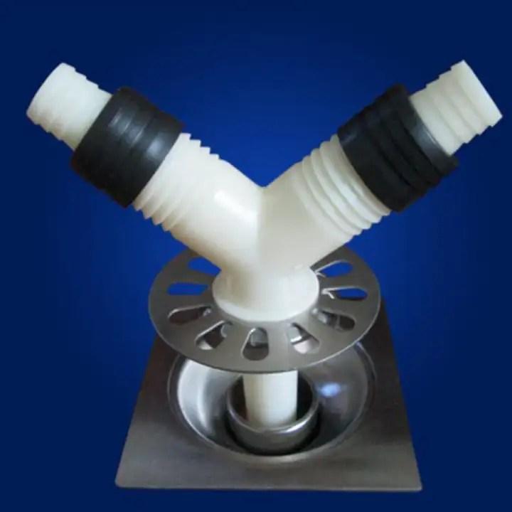 bolehdeals floor drain hose tap connector drainage adapter washing machine sink joiner for kitchen bathroom garden