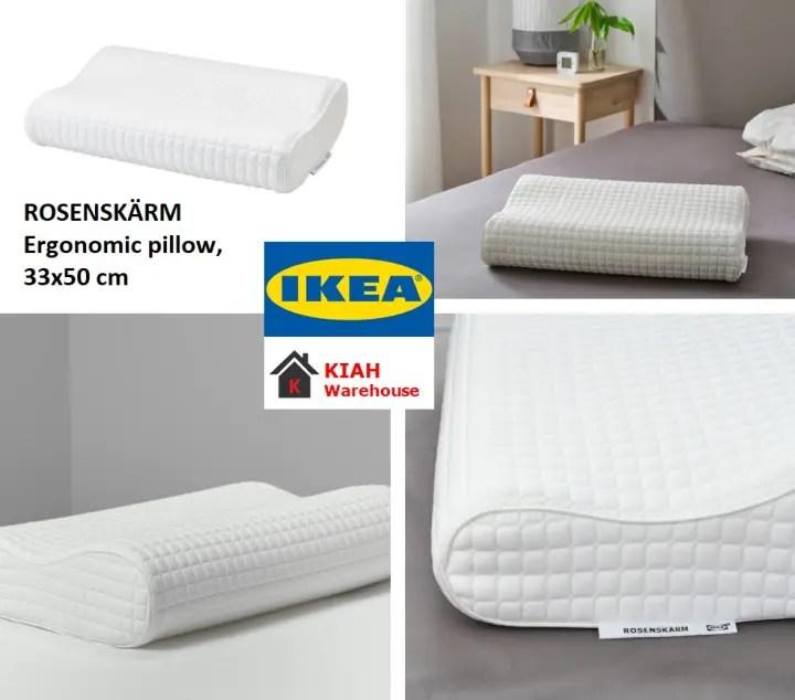 rosenskarm rosenskarm ergonomic pillow side back sleeper 33x50 cm comfortable soft memory foam pillow ikea