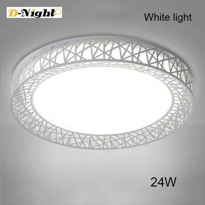 D-Malam LED Lampu Plafon Sarang Burung Lampu Bundar Modern Perlengkapan untuk Ruang Keluarga Kamar Tidur Dapur