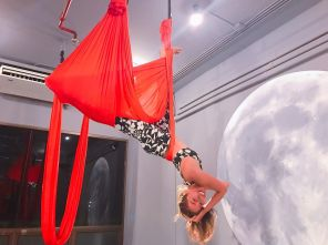 fly me to the moon aerial pole dance studio review