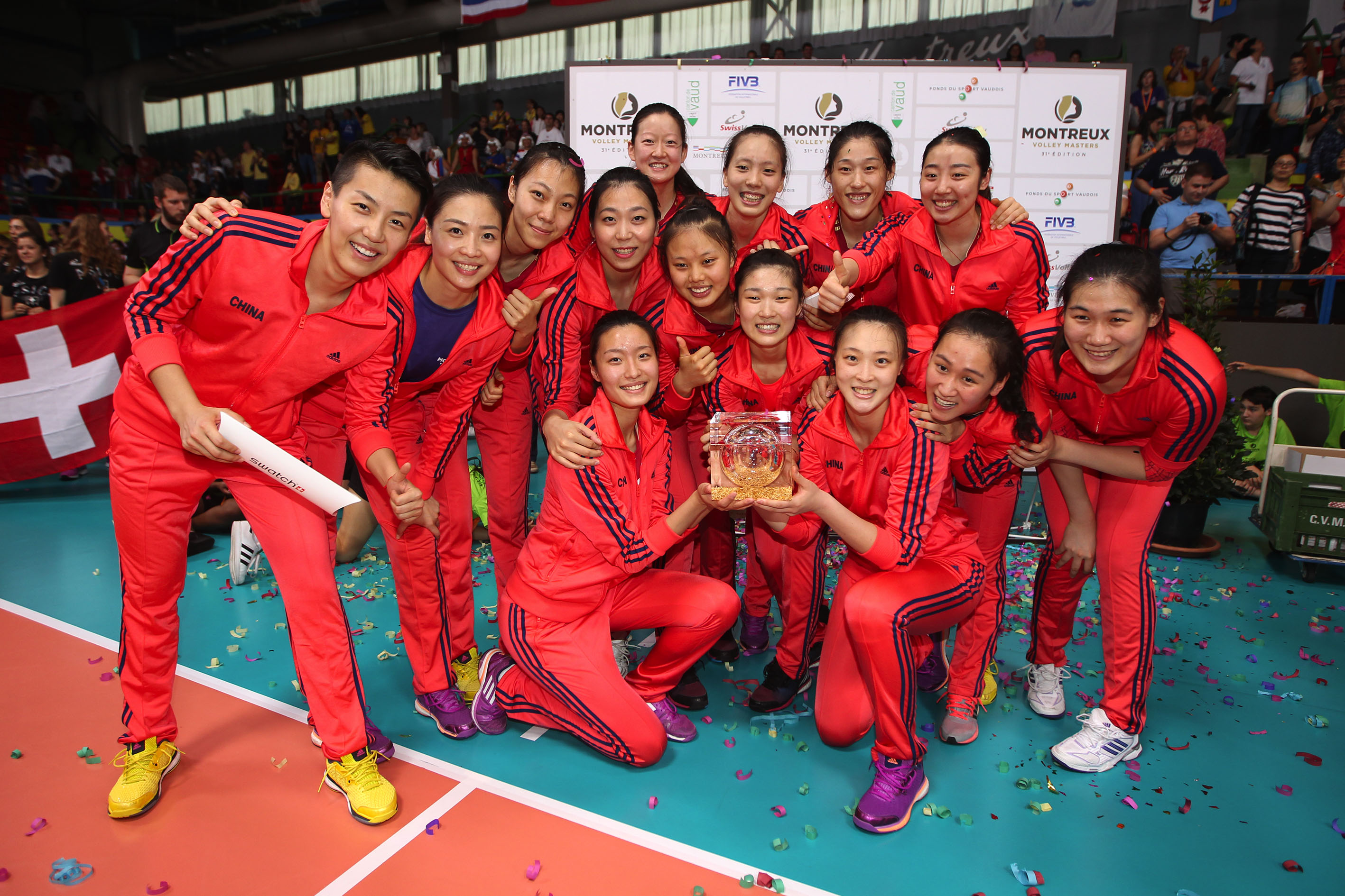 CHINA CROWNED MONTREUX VOLLEY MASTERS CHAMPIONS AFTER DEFEATING THAILAND