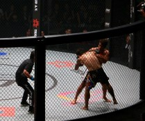 shannon wiratchai close to finishing the fight