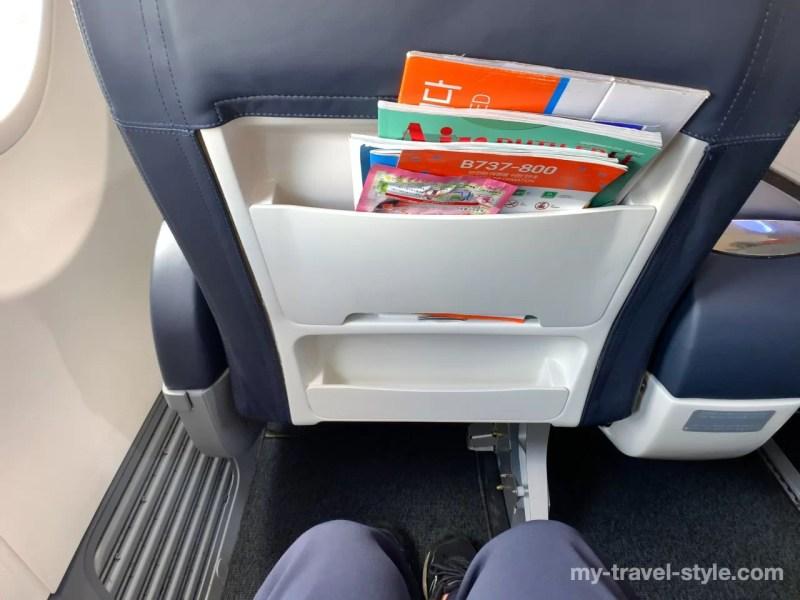 チェジュ航空ではプレミアムエコノミー「ニュークラス」に搭乗