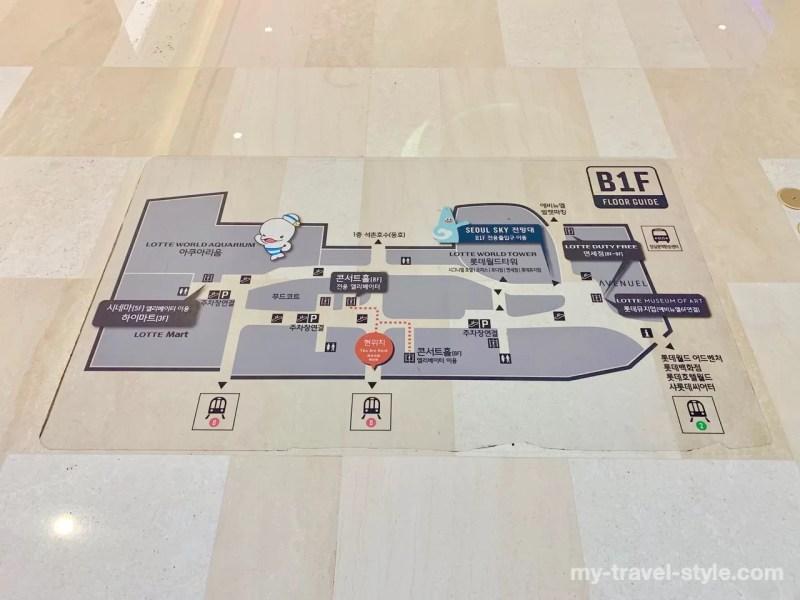 ロッテワールドタワー展望台ソウルスカイの行き方・アクセス
