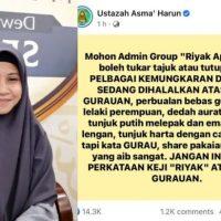 'D0sa sedang dihalalkan atas nama gur4uan' – Ustazah Asma tegur group 'Ri4k Apa Hari Ini'