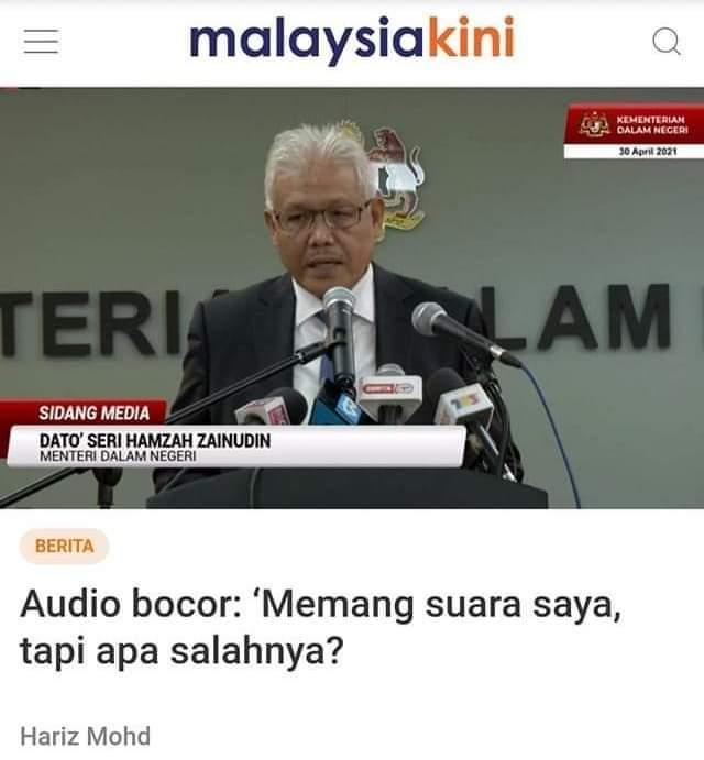 Menteri KDN Mengaku Suara Beliau