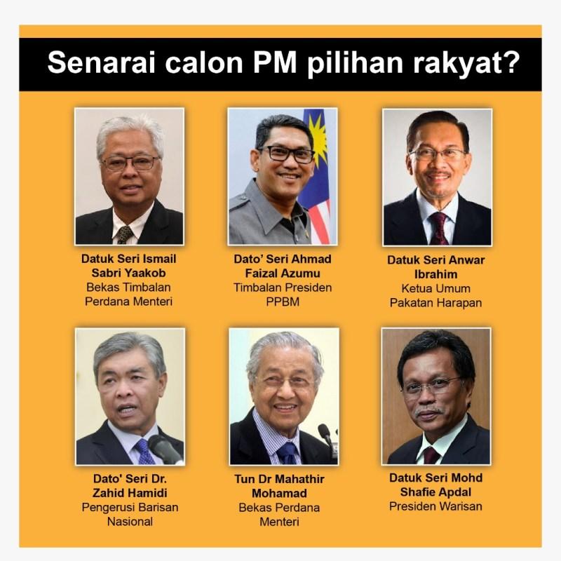 Senarai calon PM 9
