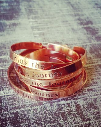 Copper cuff bracelet Message Cuff, custom name bangle, personalized bridesmaid gift, Stackable bangles, engraved cuff,  rose gold bracelet