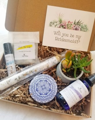 Will you be my Bridesmaid proposal gift, care package, relaxation spa gift, Thinking of you basket, cheer up gift. Hand sanitizer