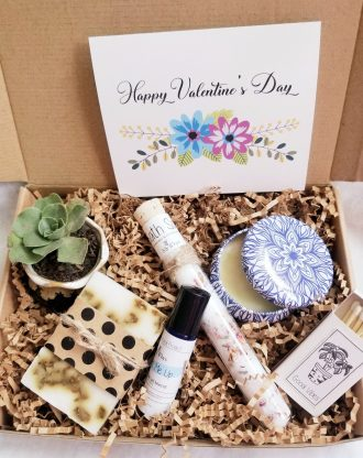 Valentines day gift package, relaxation spa gift, care package, send a gift set, valentines spa gift basket, Love gift for her, pamper box.