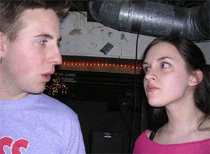 couple man woman arguing