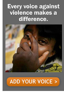 Every voice against violence makes a difference - Take Action