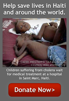 Help save lives in Haiti and around the world. -- Donate now