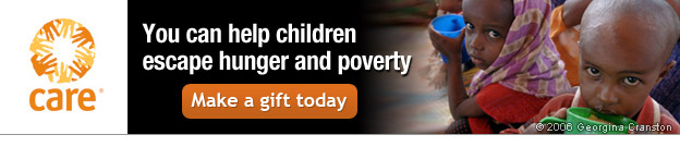 CARE -- You can help children escape hunger and poverty -- Make a gift today