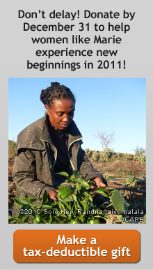 Don't delay! Donate by December 31 to help women like Marie experience new beginnings in 2011! -- Make a tax-deductible gift