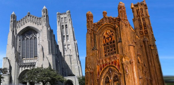 PHOTO: Rockefeller Memorial Chapel & botanical scale model.