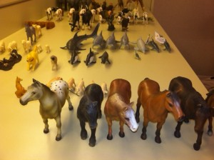 An ark's worth of animals prop the Railroad Garden's landmarks.