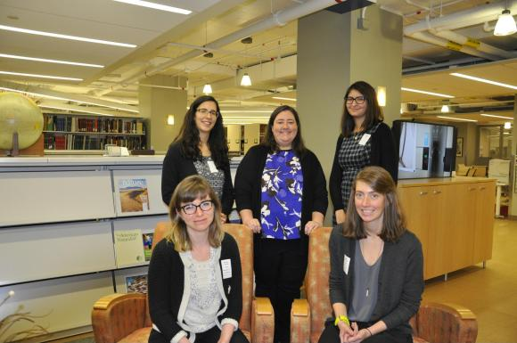 (Left to right) 2017 BHL residents Ariadne Rehbein, Alicia Esquivel, Pamela McClanahan, Marissa Kings, and Katie Mika