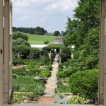 PHOTO: A view into the courtyard of Oak Spring Farm, the Mellons' Virginia estate.