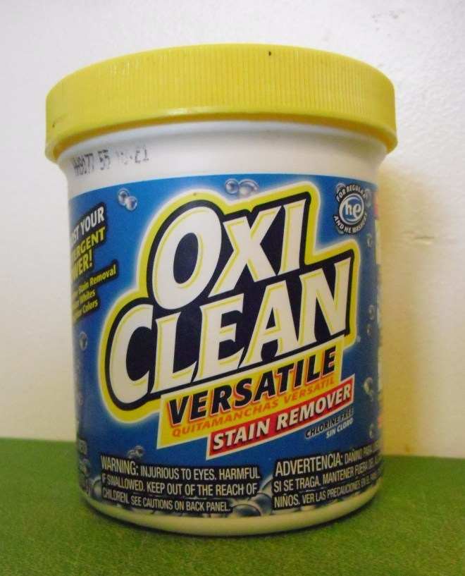 PHOTO: OxiClean stain remover.