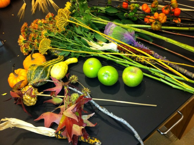 PHOTO: ingredients for a cornucopia.