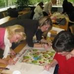 PHOTO: Healthcare Garden Design certificate program participants finalize a design.
