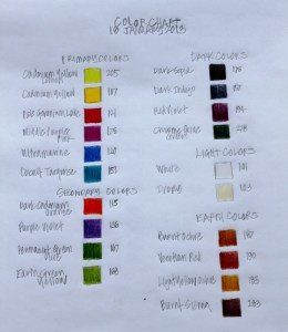PHOTO: color chart by sophia siskel