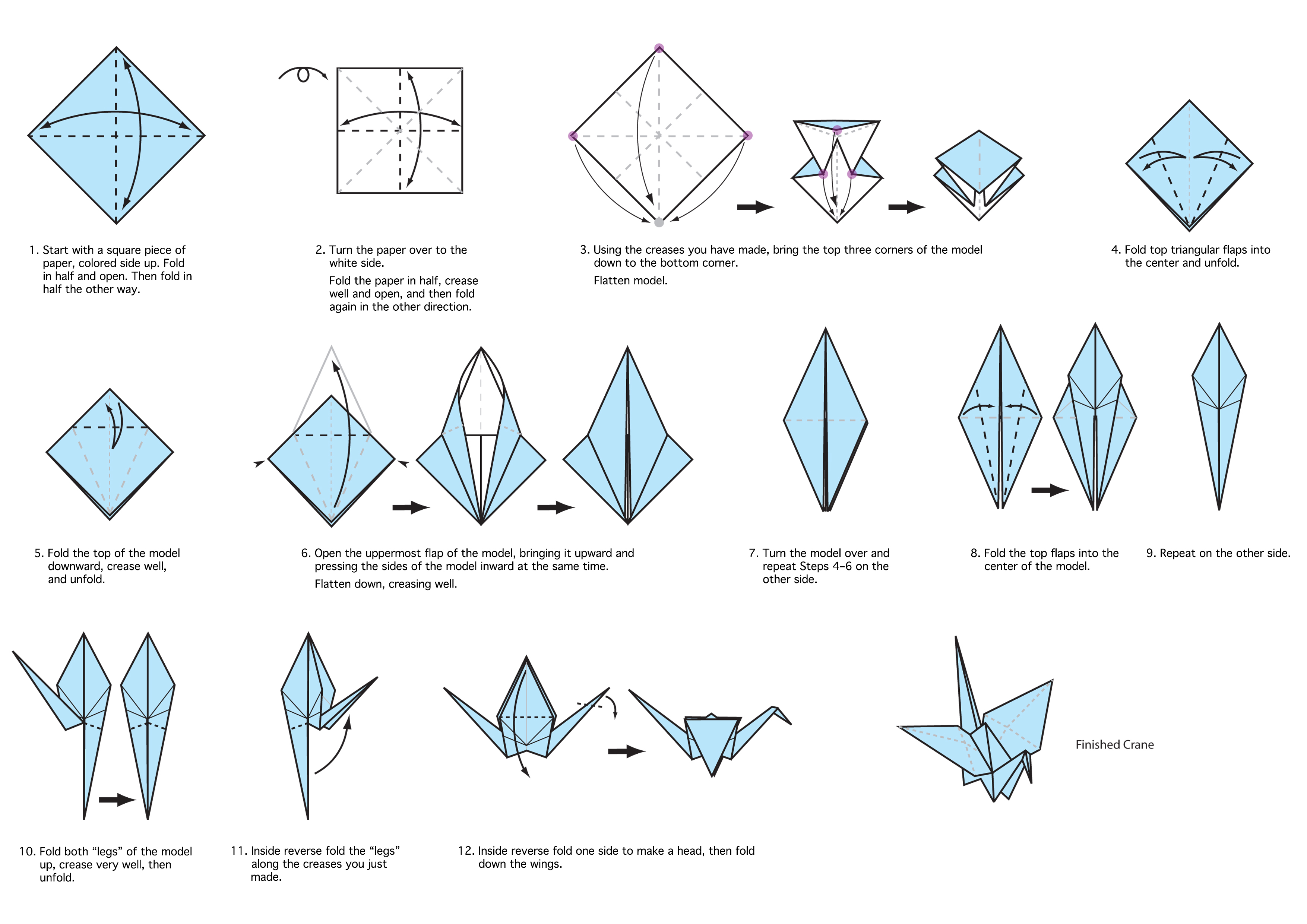 My chicago botanic garden tag archive origami download these instructions to create an origami crane mightylinksfo Image collections