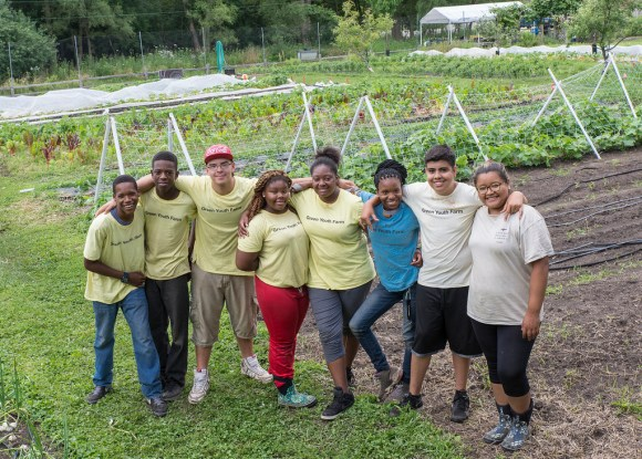 PHOTO: Windy City Harvest Youth Farm participants.