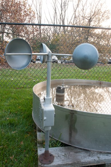 PHOTO: An anemometer measures wind speed.