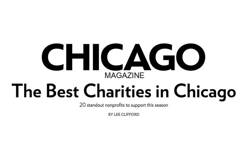 Chicago Magazine: The Best Charities in Chicago 2015