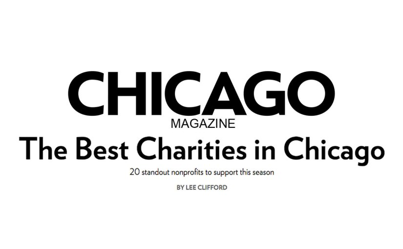 Chicago Magazine: The Best Charities in Chicago 2015