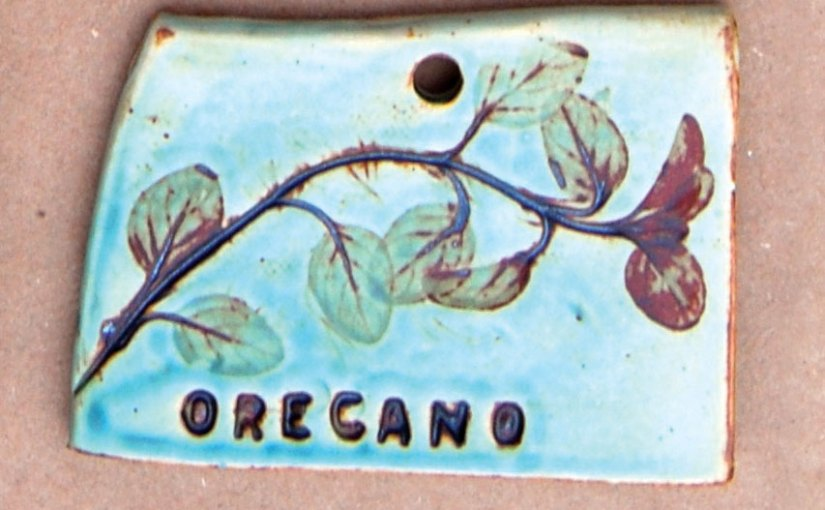 PHOTO: Garden marker tile