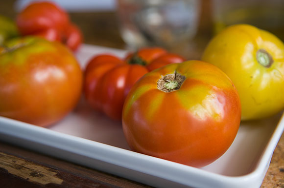 PHOTO: Heirloom tomatoes
